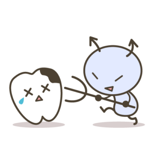 虫歯治療で歯を白く